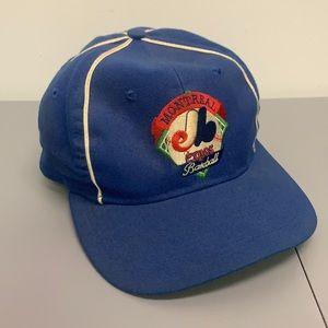 Vintage 90s Montreal Expos Baseball Hat Cap